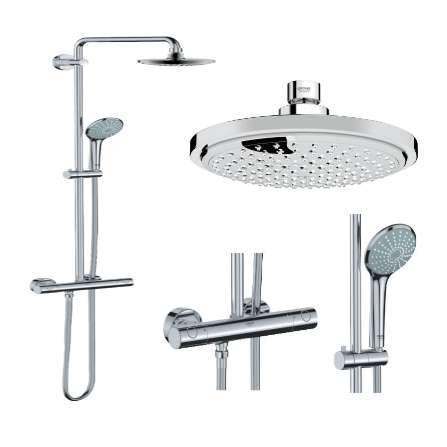 grohe euphoria 27296 27296001 duschsystem duschs ule regendusche rainshower ebay. Black Bedroom Furniture Sets. Home Design Ideas