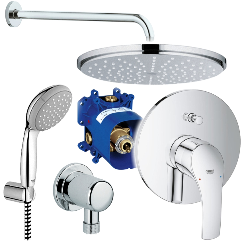 grohe unterputz duschsystem mit kopfbrause eurosmart. Black Bedroom Furniture Sets. Home Design Ideas