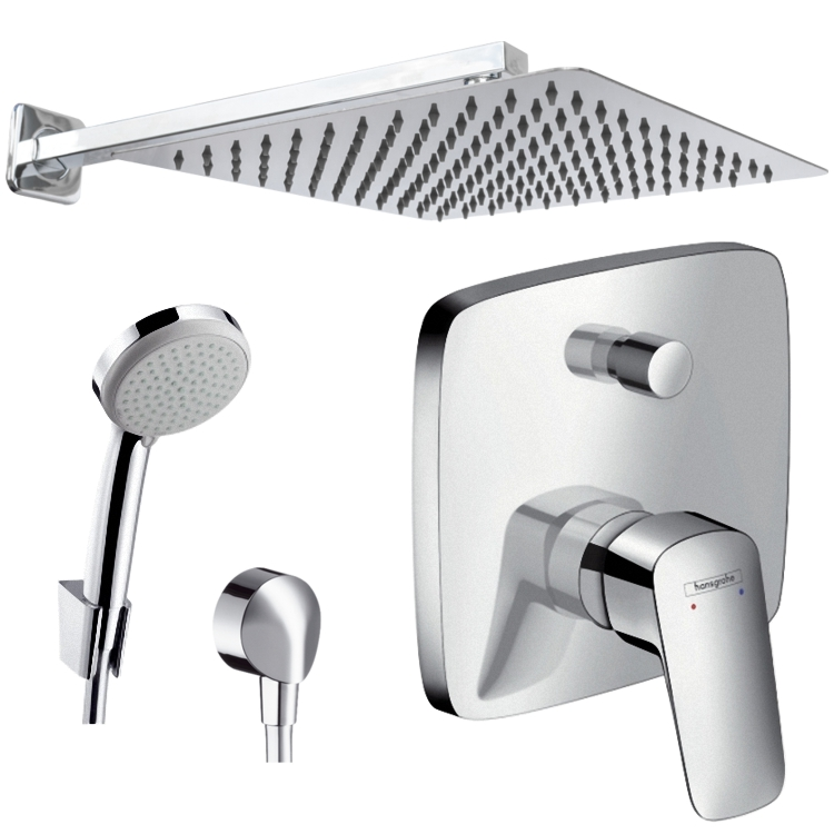 hansgrohe duschsystem trendy grohe euphoria xxl shower system chrome with shower mixer with. Black Bedroom Furniture Sets. Home Design Ideas