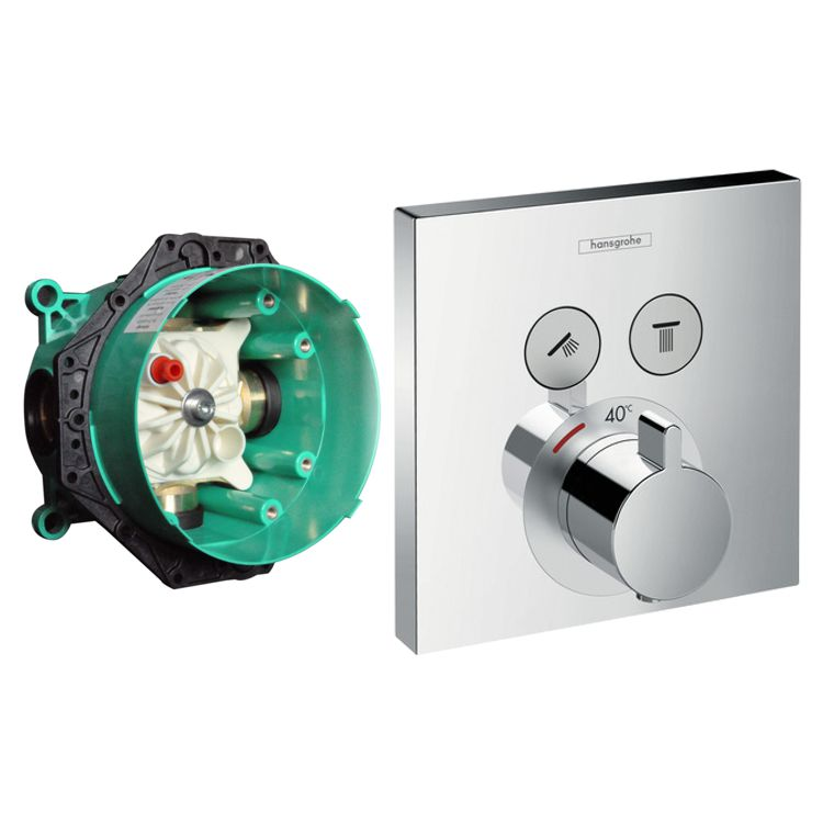 Hans grohe shower select thermostat ibox unterputz for Hansgrohe ibox