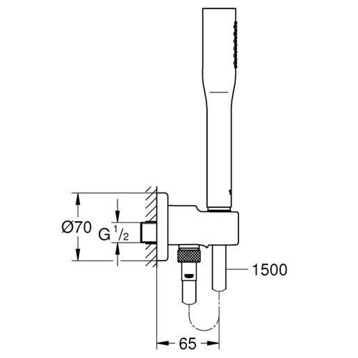 grohe grohtherm smartcontrol thermostat unterputz duscharmatur set up armatur. Black Bedroom Furniture Sets. Home Design Ideas