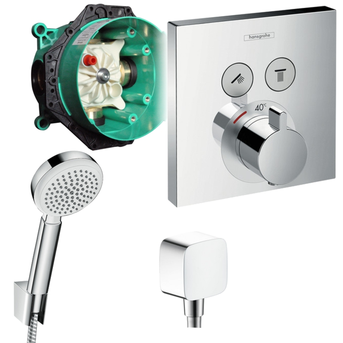 hansgrohe shower select unterputz thermostat. Black Bedroom Furniture Sets. Home Design Ideas
